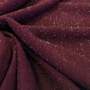 Burgundy Lurex Scuba Fabric - Pound Fabrics