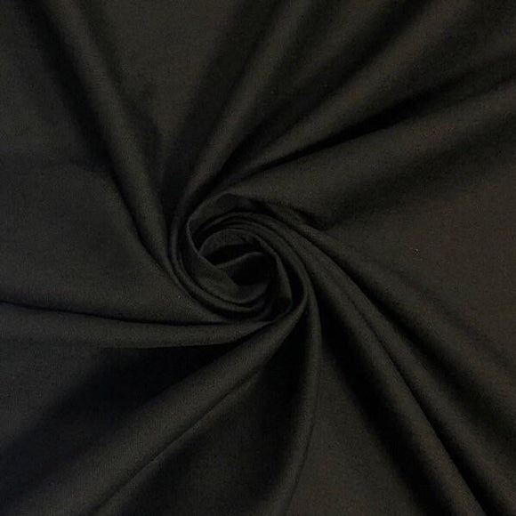 "94 ""Wide Black Polycotton Sheeting Fabric - Pound Fabrics"