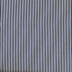 Navy Striped Cotton Fabric