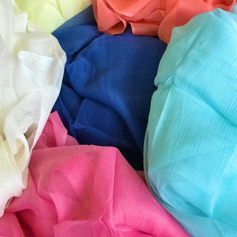 Rayon Crinkle Pieces - Assorted Colours (10 pieces)