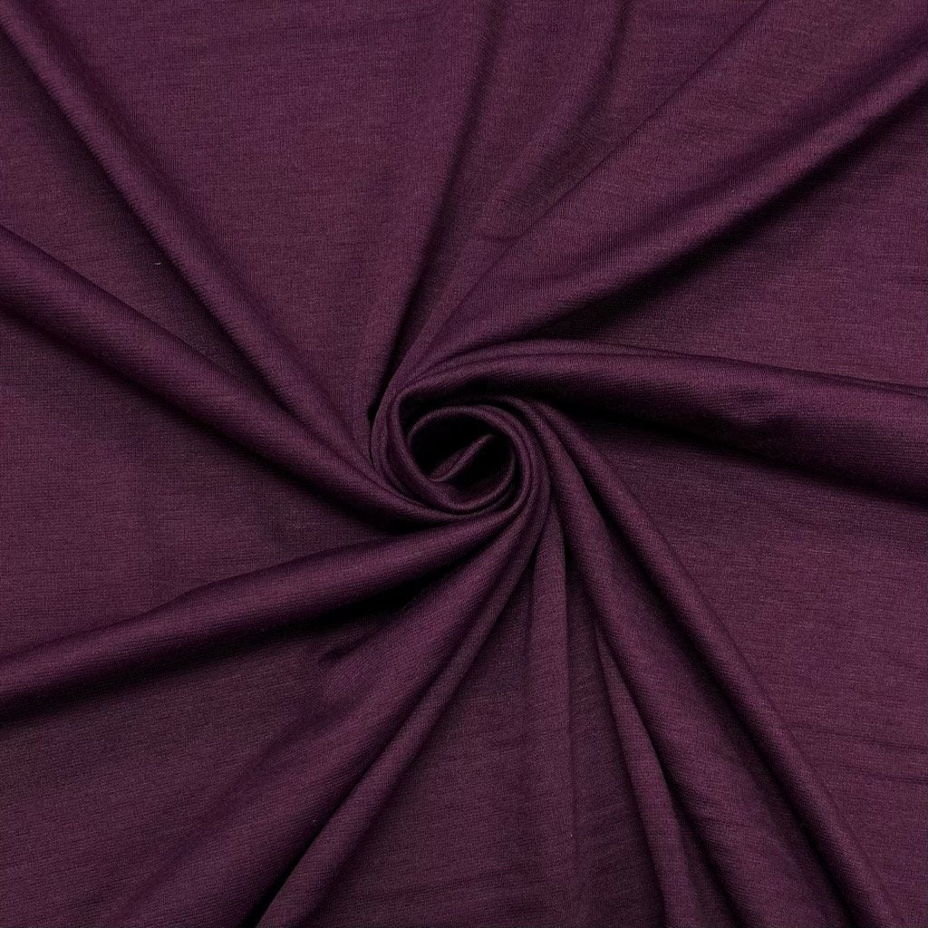 Purple Ponte Roma Fabric