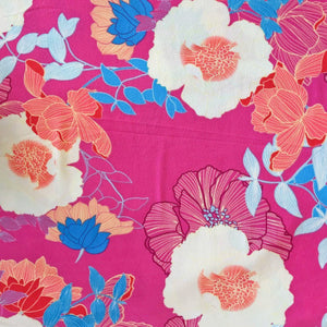 Pink Spring Land Liverpool Stretch Fabric