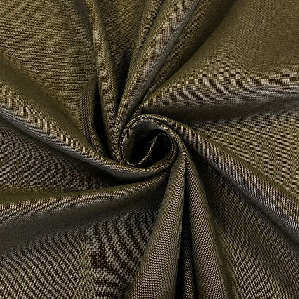 Khaki Denim Bengaline Stretch Fabric