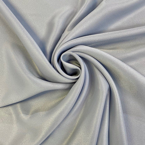 Blue/Grey Sheen Polyester Fabric