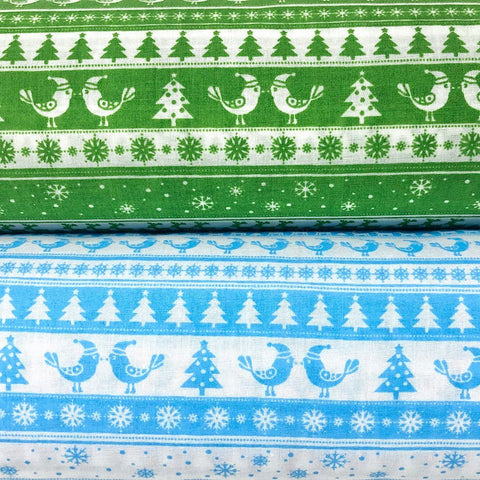 Scandinavian Xmas Polycotton Fabric