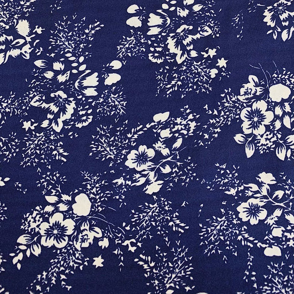 White Forest Bunch Polyester Fabric - 3 metres for £3