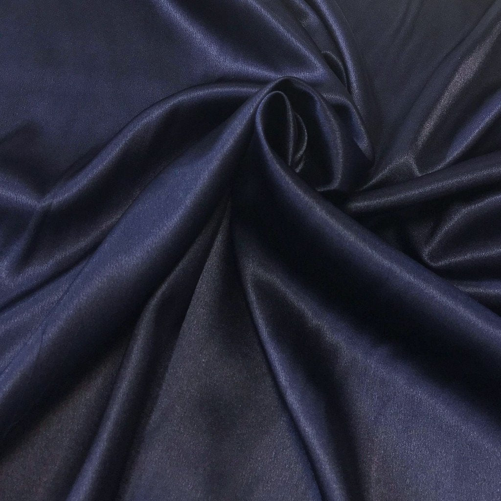 Navy Satin Fabric