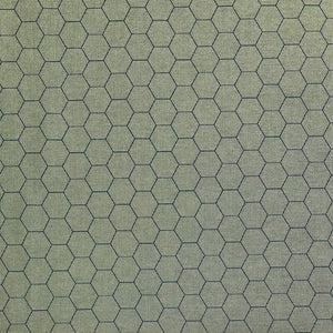 Hexagon Cotton Canvas Fabric