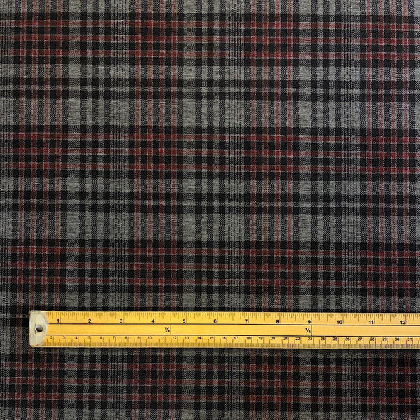 Checkered Ponte Roma Fabric