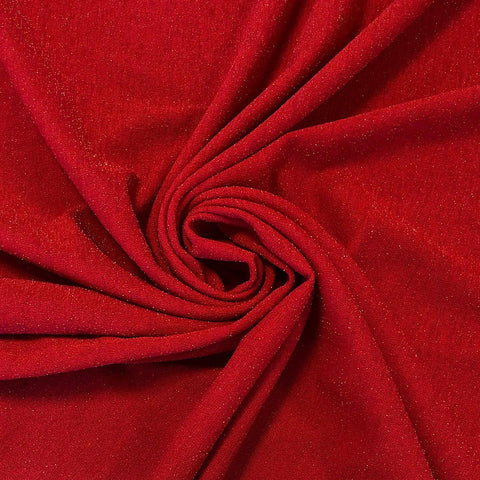 Red Lurex Scuba Fabric - Pound Fabrics