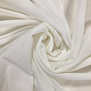 Ivory Sheer Stretch Fabric