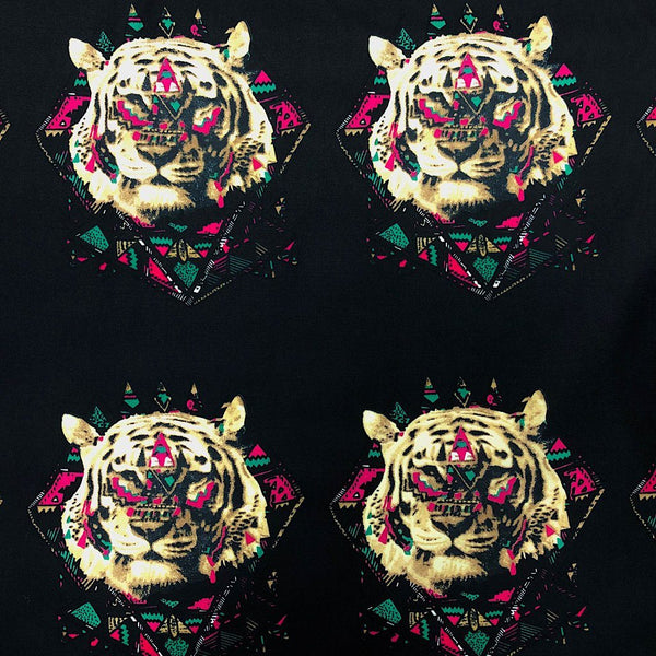 Tiger Face Cotton Fabric