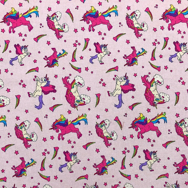 Unicorn Cotton Canvas Fabric