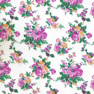 Elliptical Pink Flowers Soft Touch Polyester Fabric