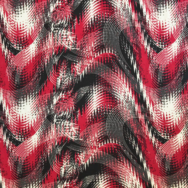 Artistic Brush Strokes Polyester Fabric