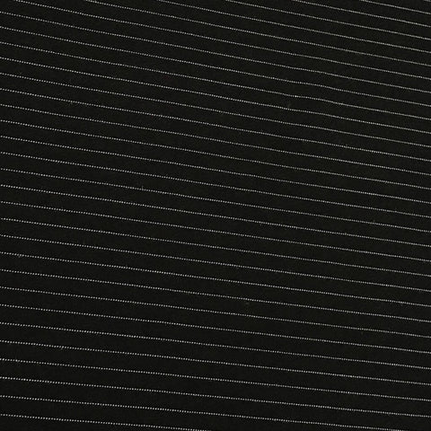 Black and White Stripe Polyester Fabric - Pound Fabrics