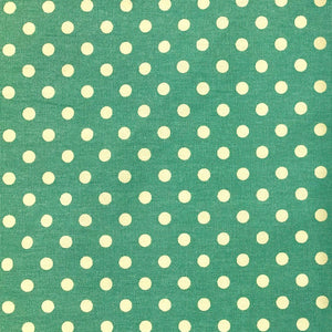 Polka Dot 100% Cotton Canvas Fabric