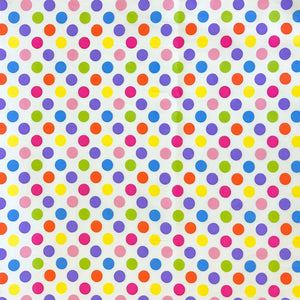 Rainbow Polka Cotton Fabric