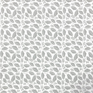 Grey Holly Polycotton Fabric