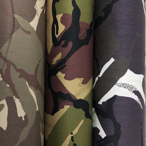 Camouflage 100% Cotton Drill Fabric