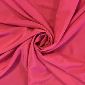 Pink Crepe de Chine Polyester Fabric - Pound Fabrics