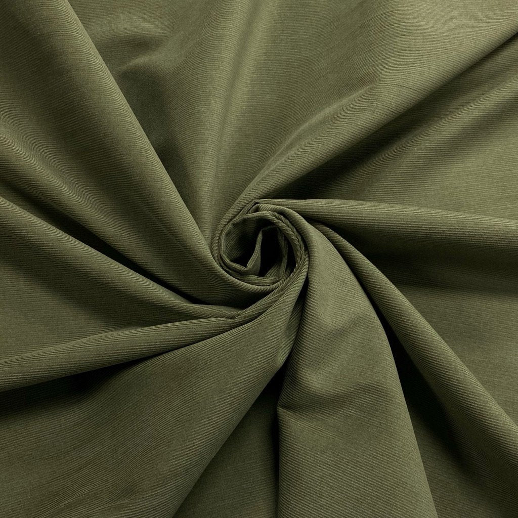 Khaki Needlecord Fabric