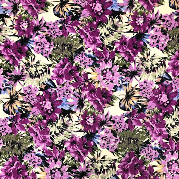 Forest Plants Polyester Fabric