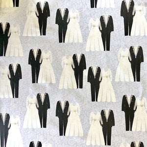 Bride and Groom Cotton Fabric