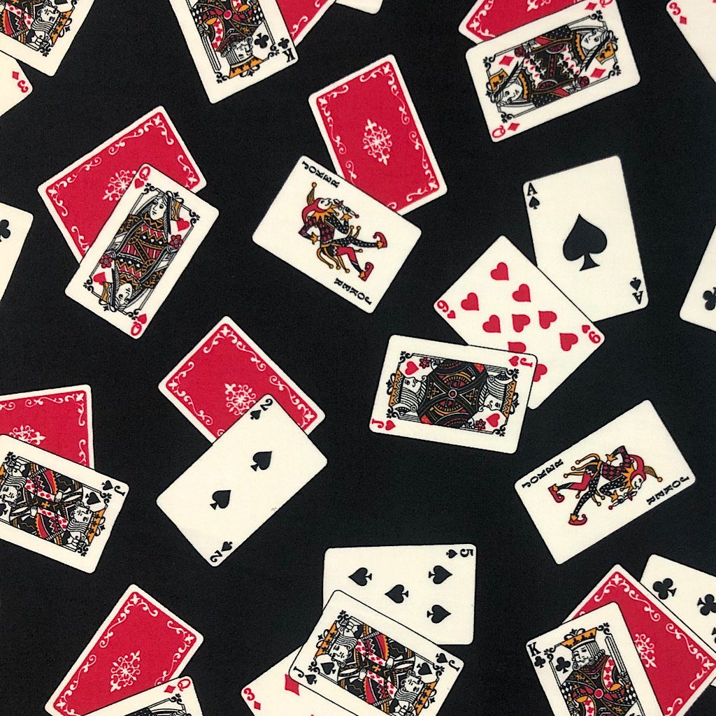 Playing Cards Cotton Fabric