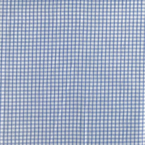 Blue Checkered Gingham Cotton Fabric