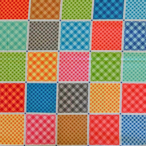 Multi Check Cotton Quilting Fabric