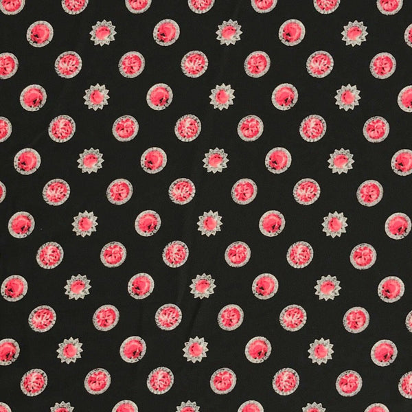Ruby Jewels Georgette Fabric - Pound Fabrics