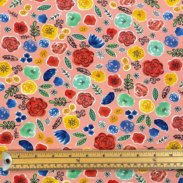 Poppy's Garden Cotton Jersey Fabric