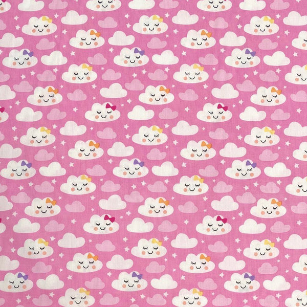 Sleeping Clouds Cotton Fabric