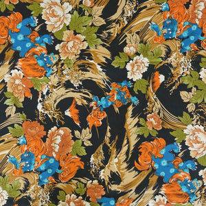 Marigold Flowers Cotton Fabric