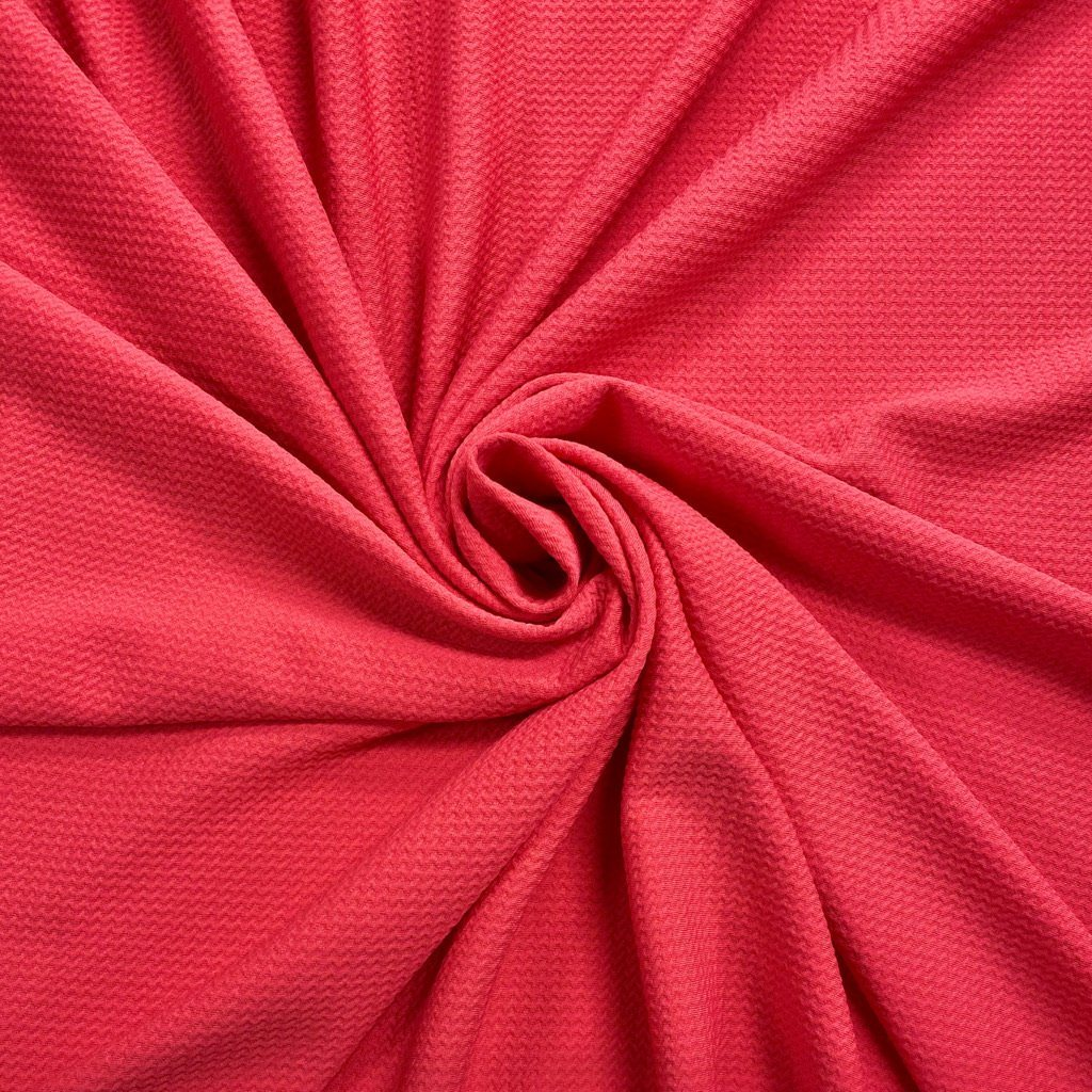Pink Embossed Stretch Fabric