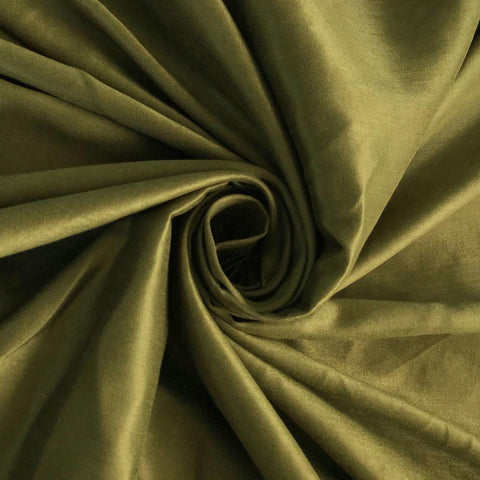 Olive Dull Satin Fabric