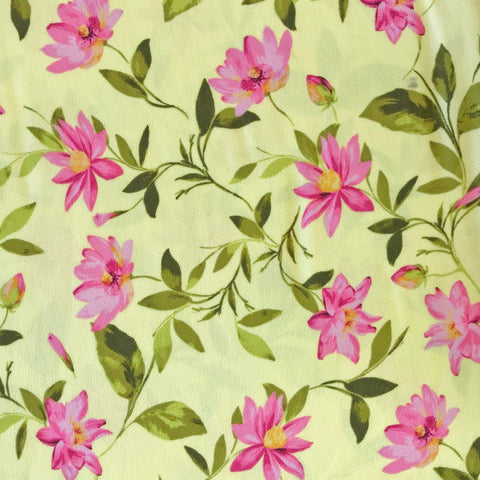 Clematis Flower Liverpool Stretch Fabric