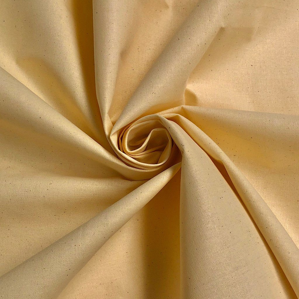 Cream Cotton Mix Fabric