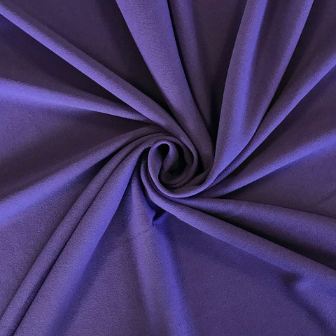 Purple Scuba Crepe Fabric
