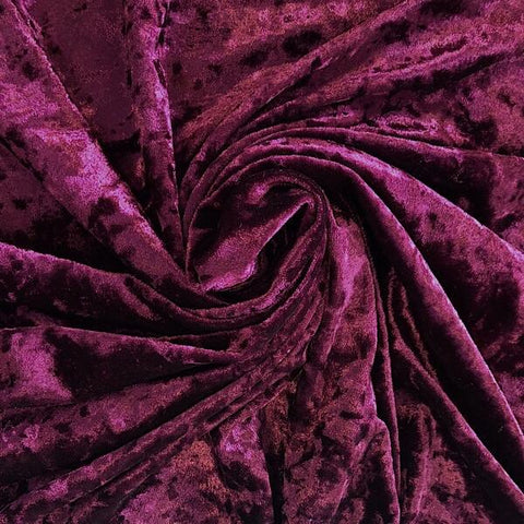 High Quality Wine Crushed Velvet Fabric