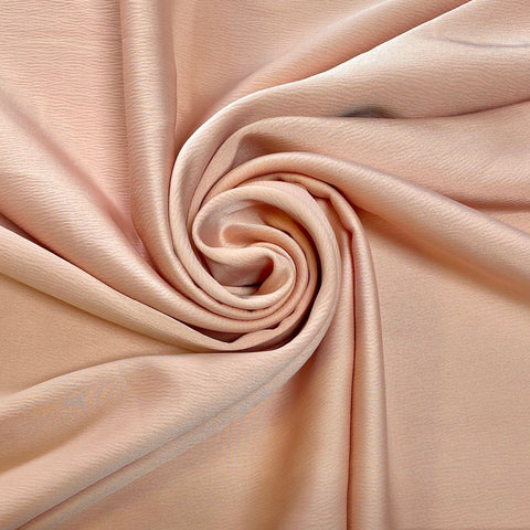 Peach Crinkle Polyester Fabric