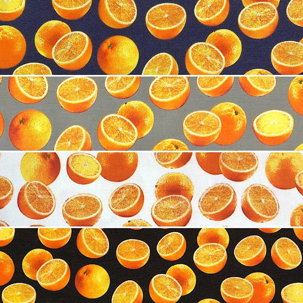 Oranges Cotton Canvas Fabric