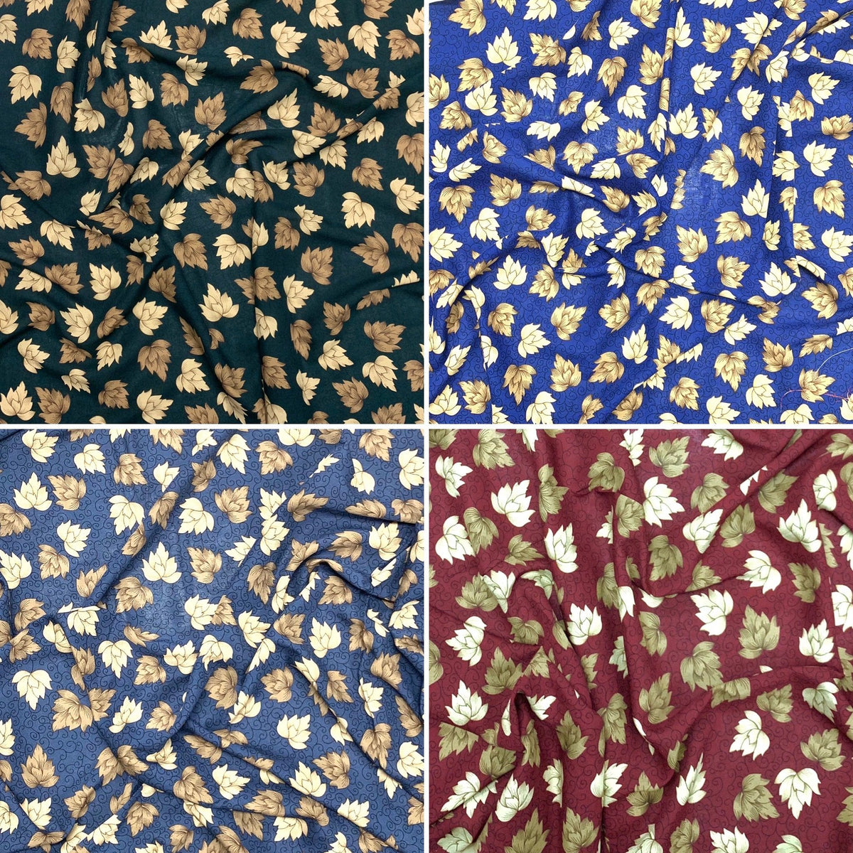 Bunches of Leaves Viscose Fabric