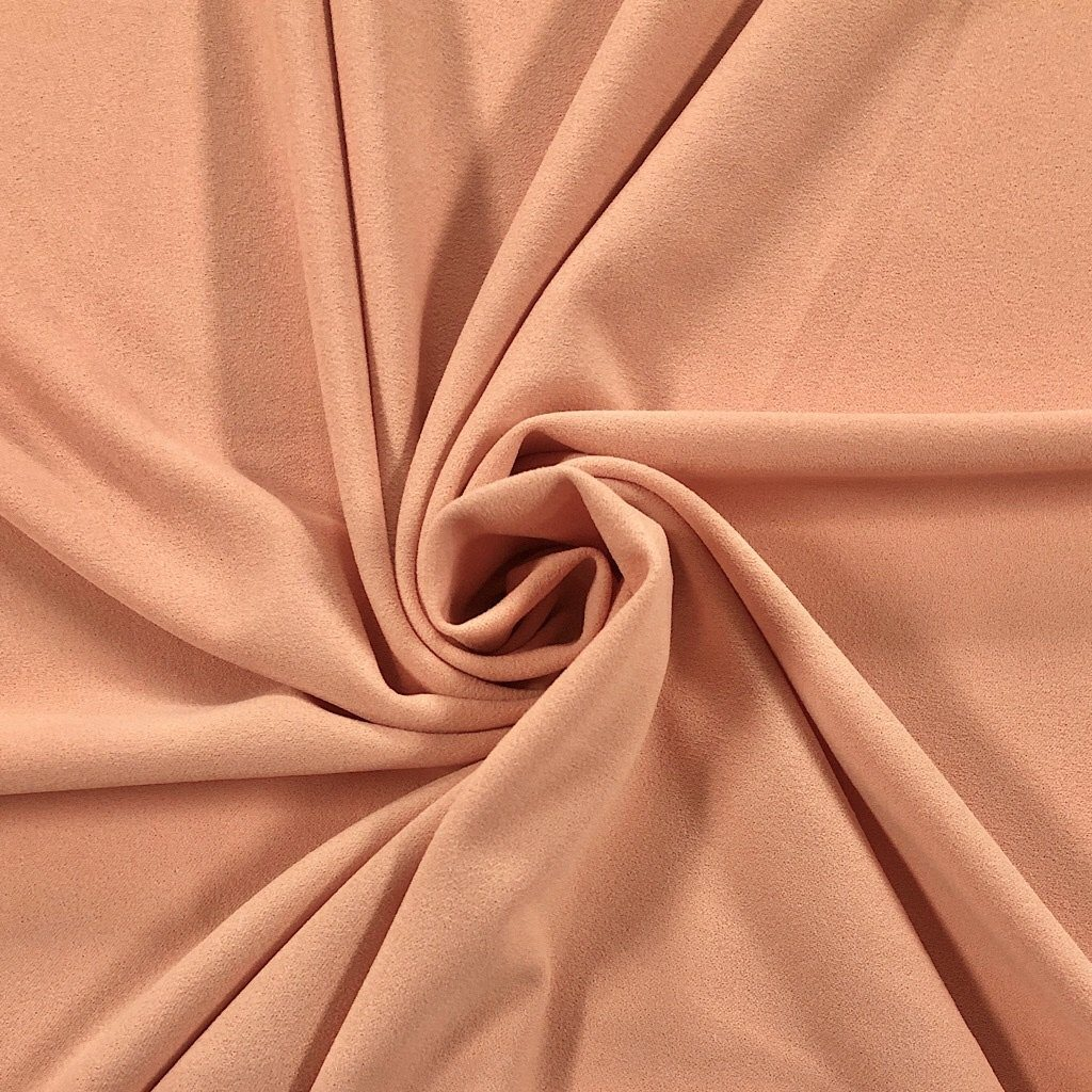 Peach Scuba Crepe Fabric