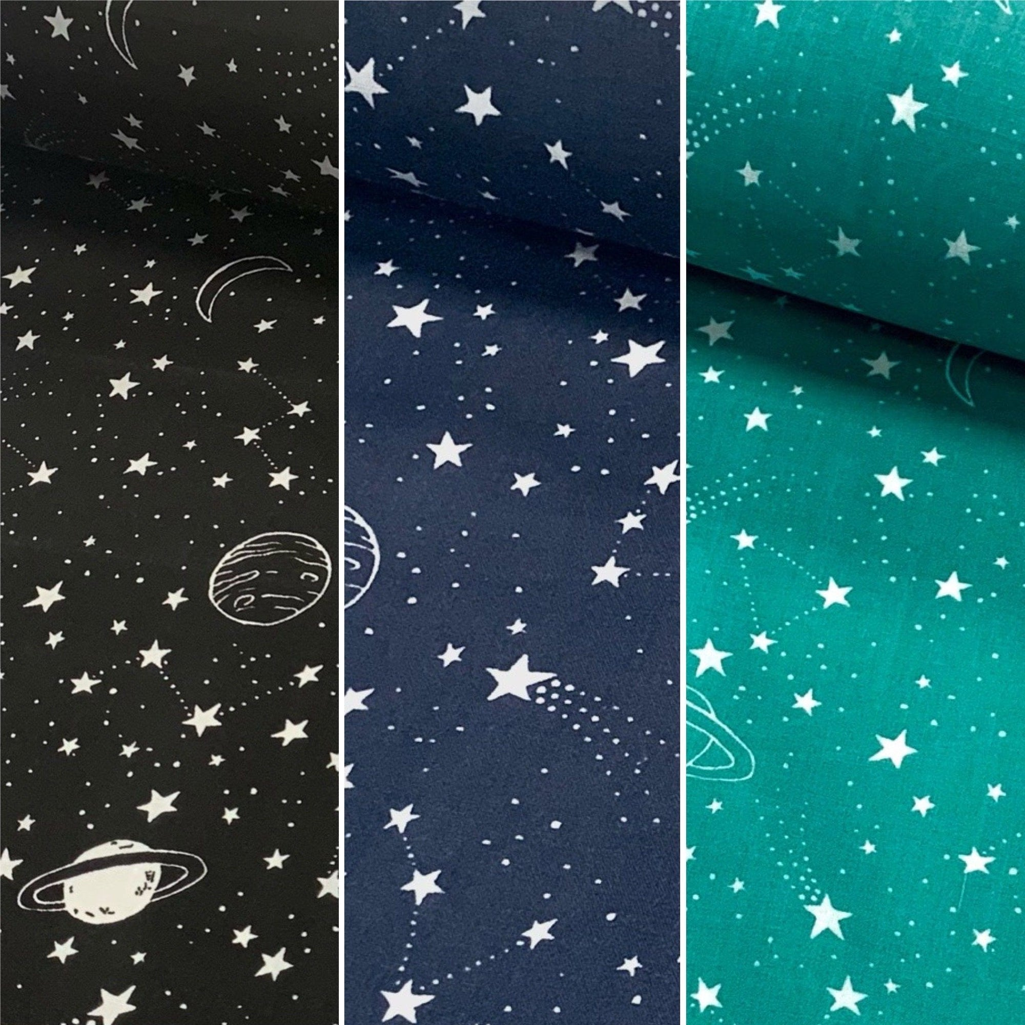 Stars and Planets Polycotton Fabric