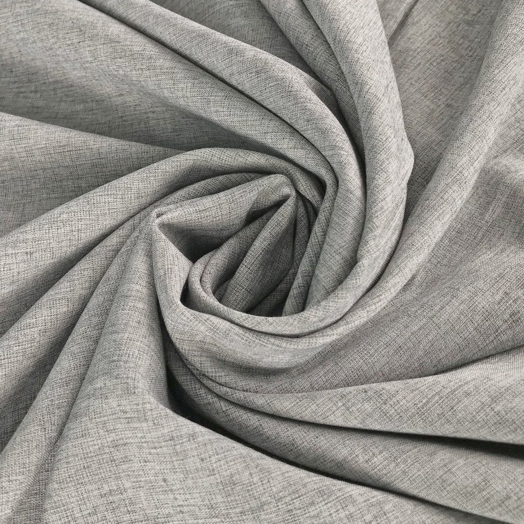 Grey Rayon Polyester Fabric