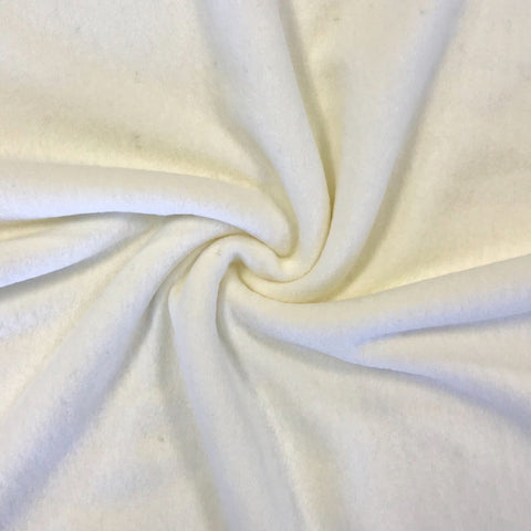 Cream Wool Blend Fabric