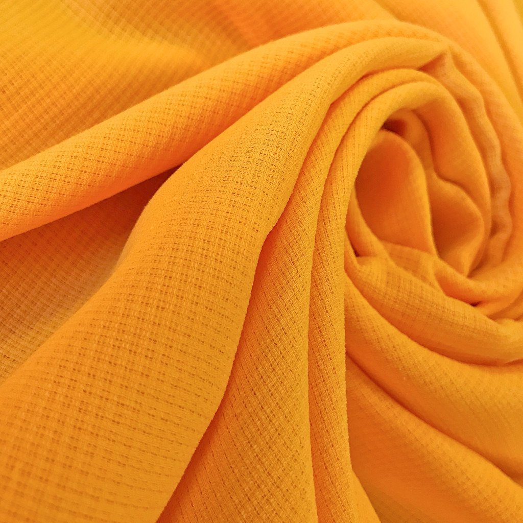 Orange Loose Weave Fabric