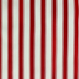 Red Ticking Stripe Polyester Canvas